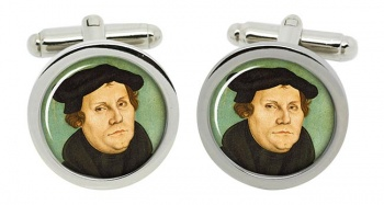 Martin Luther Round Cufflinks