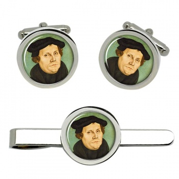 Martin Luther Cufflink and Tie Clip Set