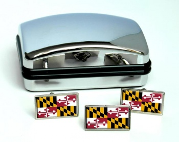Maryland  Flag Cufflink and Tie Pin Set