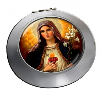 Mary Sacred Heart Chrome Mirror