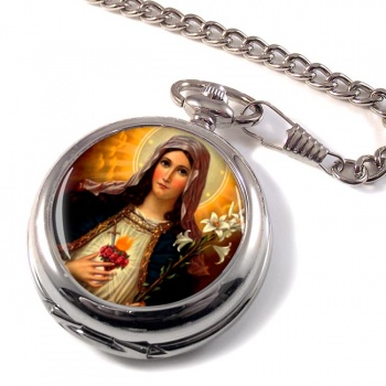 Mary Sacred Heart Pocket Watch