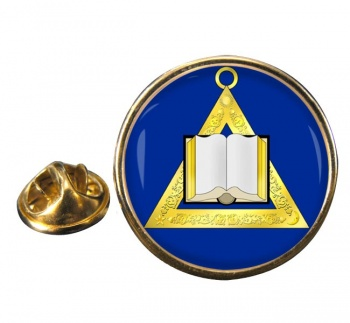 Masonic Lodge Chaplain Round Pin Badge