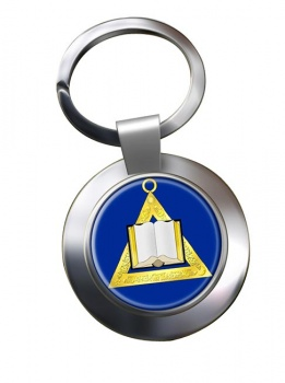 Masonic Lodge Chaplain Chrome Key Ring