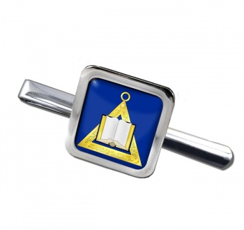 Masonic Lodge Chaplain Square Tie Clip