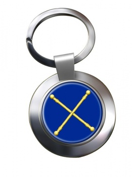 Masonic Lodge Marshal Chrome Key Ring