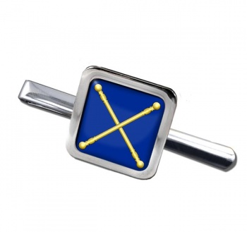 Masonic Lodge Marshal Square Tie Clip