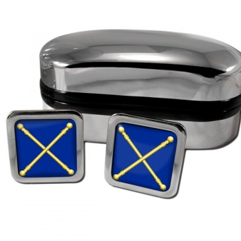 Masonic Lodge Marshal Square Cufflinks