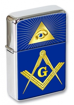 Masonic Square and Compasses Flip Top Lighter