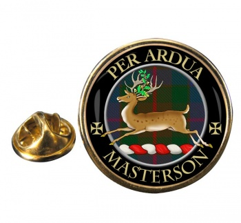 Masterson Scottish Clan Round Pin Badge