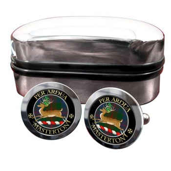 Masterton Scottish Clan Round Cufflinks