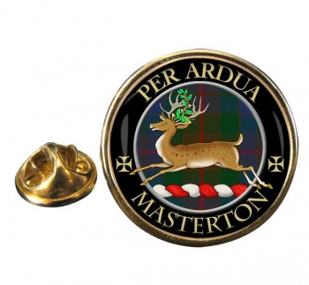 Masterton Scottish Clan Round Pin Badge