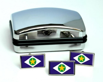 Mato Grosso (Brasil) Flag Cufflink and Tie Pin Set
