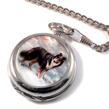 Collie by Maud Earl Pocket Watch