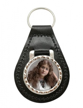 Maude Fealy Leather Key Fob
