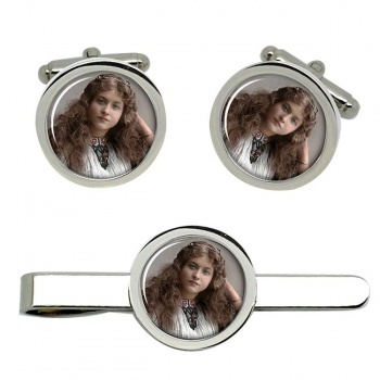 Maude Fealy Cufflink and Tie Clip Set
