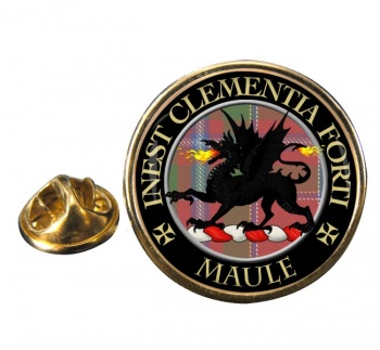 Maule Scottish Clan Round Pin Badge
