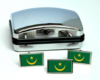 Mauritania Flag Cufflink and Tie Pin Set