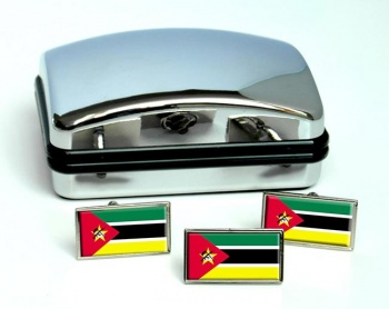 Mozambique Flag Cufflink and Tie Pin Set