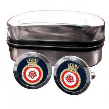 Second Mine Counter Measures Squadron (MCM2) (Royal Navy) Round Cufflinks