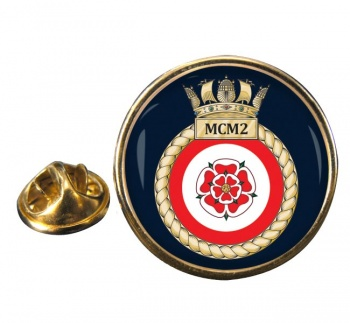 Second Mine Counter Measures Squadron (MCM2) (Royal Navy) Round Pin Badge
