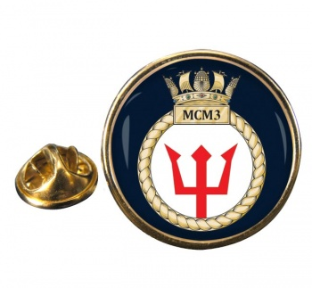 Third Mine Counter Measures Squadron (MCM3) (Royal Navy) Round Pin Badge