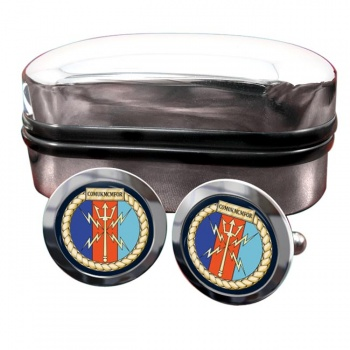 COMUKMCMFOR (Royal Navy) Round Cufflinks