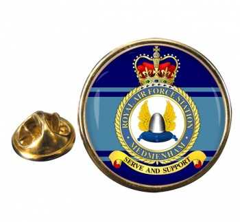 RAF Station Medmenham Round Pin Badge