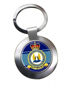 RAF Station Medmenham Chrome Key Ring