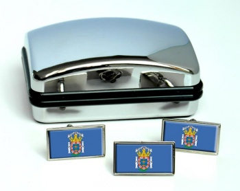Melilla (Spain) Flag Cufflink and Tie Pin Set