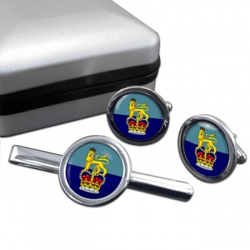 Members of the Air Force Board (Royal Air Force) Round Cufflink and Tie Clip Set