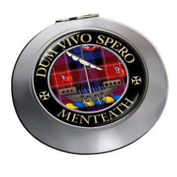 Menteath Scottish Clan Chrome Mirror