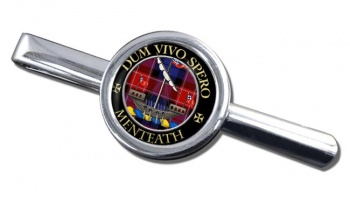 Menteath Scottish Clan Round Tie Clip