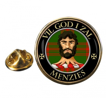 Menzies Scottish Clan Round Pin Badge