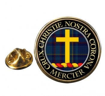 Mercier Scottish Clan Round Pin Badge