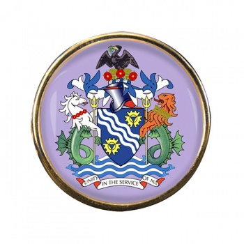 Merseyside (England) Round Pin Badge
