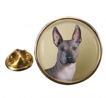 Mexican Hairless Dog Round Pin Badge