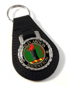 Middleton Scottish Clan Leather Key Fob