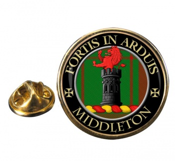 Middleton Scottish Clan Round Pin Badge