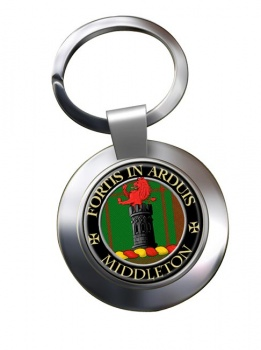 Middleton Scottish Clan Chrome Key Ring