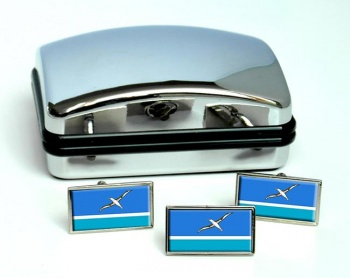 Midway Islands Flag Cufflink and Tie Pin Set