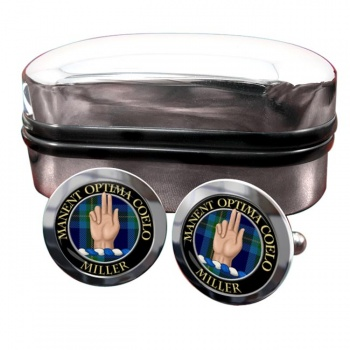 Miller Scottish Clan Round Cufflinks