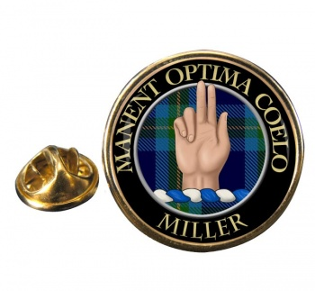 Miller Scottish Clan Round Pin Badge