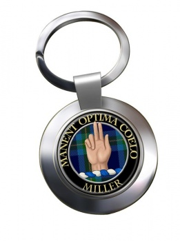 Miller Scottish Clan Chrome Key Ring