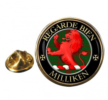 Milliken Scottish Clan Round Pin Badge