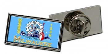 Milwaukee WI  Flag Pin Badge