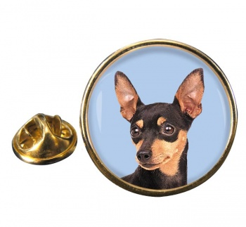 Miniature Pinscher Round Pin Badge