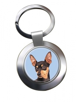 Miniature Pinscher Metal Key Ring