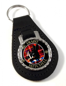 Mitchell of Innes Scottish Clan Leather Key Fob