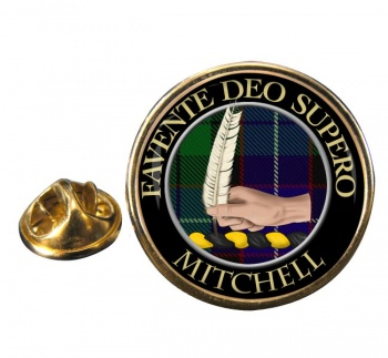Mitchell Scottish Clan Round Pin Badge
