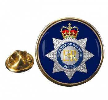 MOD Police  Round Pin Badge